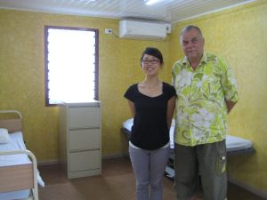 This photo is of the Principal and nurse at the Central School in Vanuatu